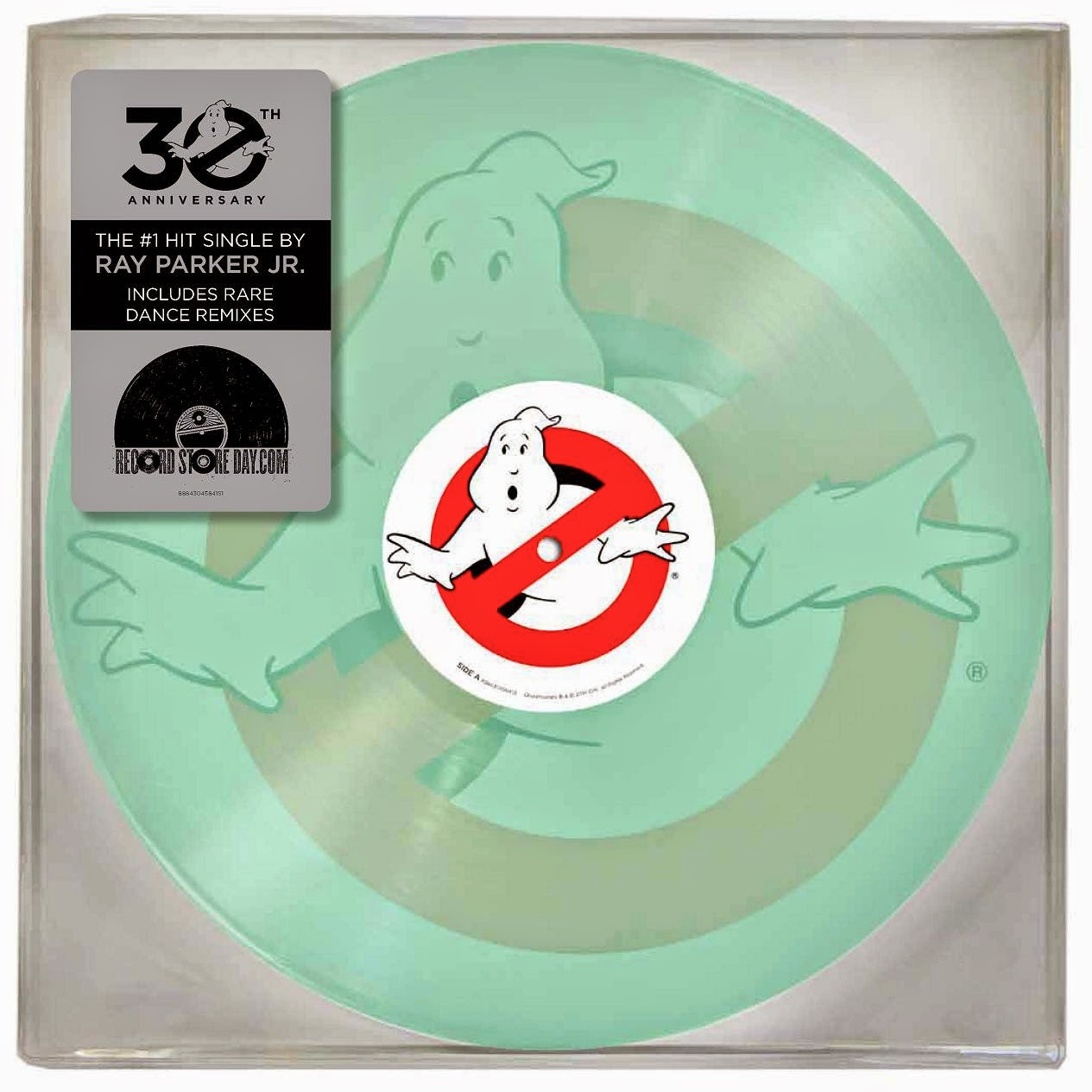"Record Store Day 2014 Exclusive Ghostbusters Theme Song Glow in the Dark Single 10"" Vinyl Record by Ray Parker, Jr."