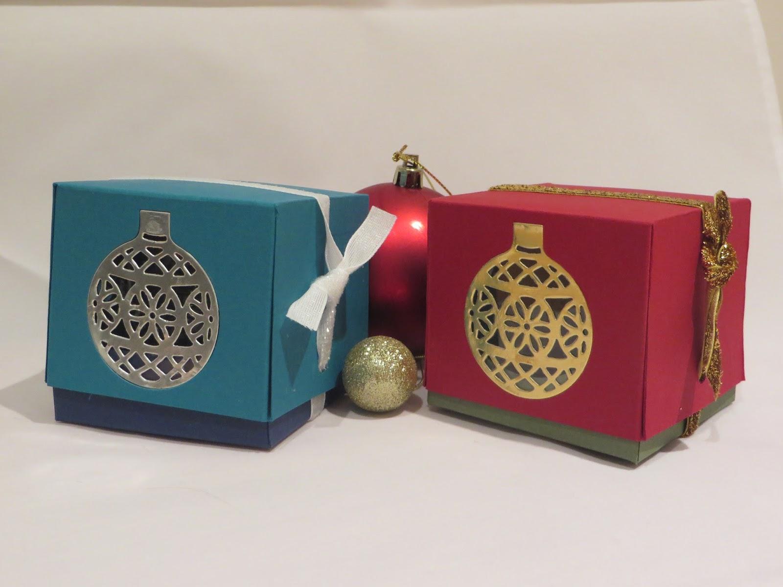 Craftycarolinecreates ornament window gift box video