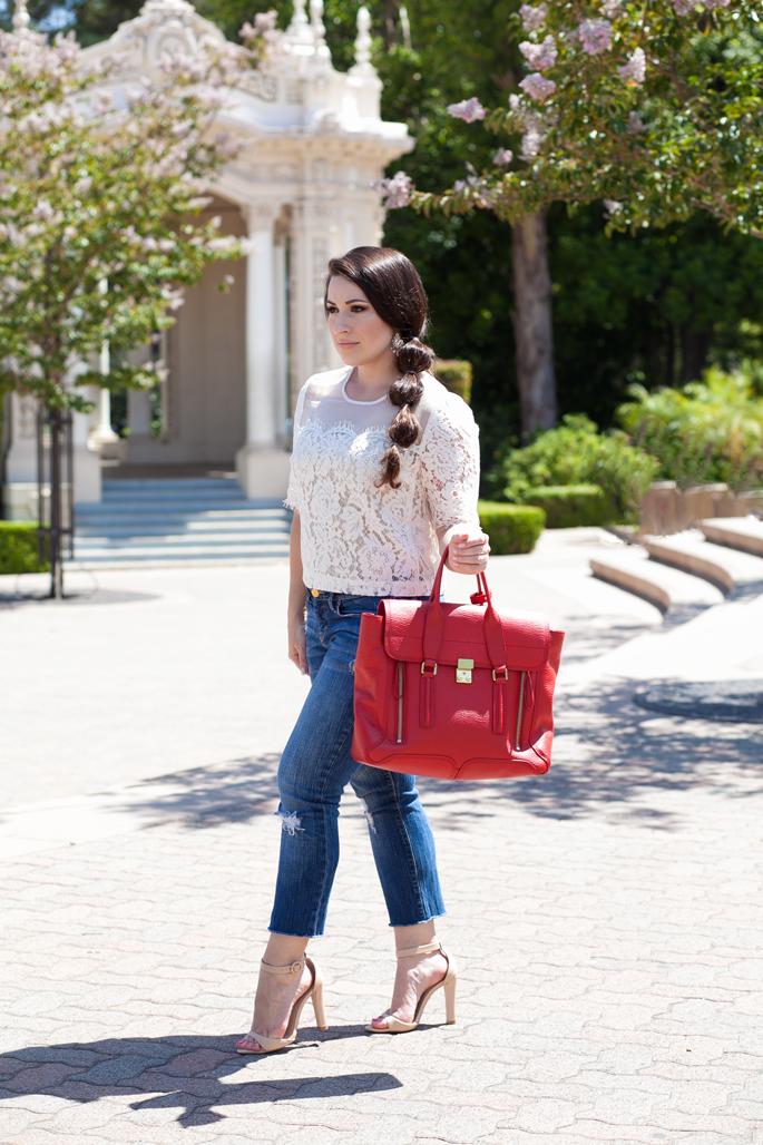 princess jasmine braid, lace topshop top, balboa park, king and kind blog, san diego
