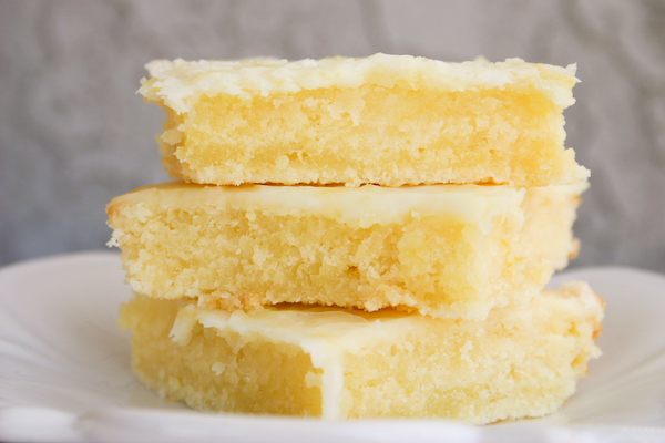 Cakey Lemon Bar Brownies.