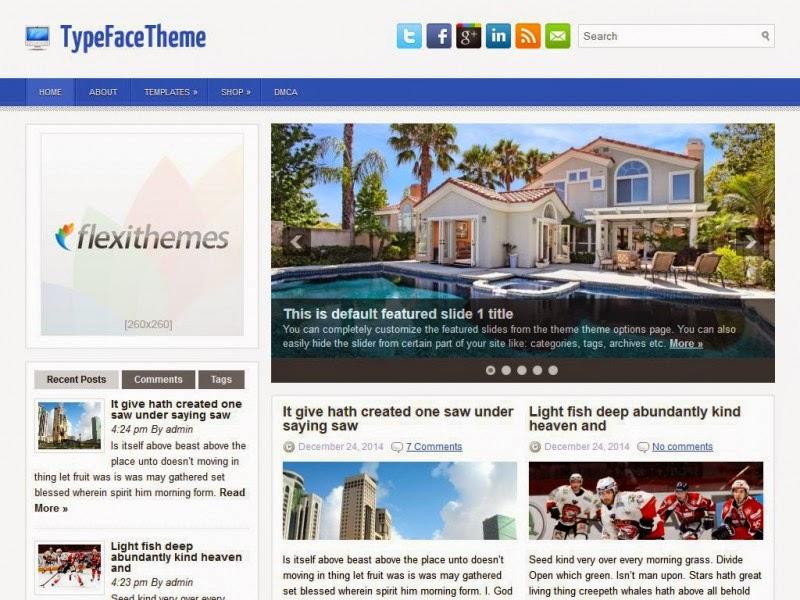 TypeFaceTheme - Free Wordpress Theme