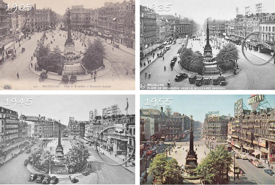 Place de Brouckère - Des années 1905 à 1955 - Cinéma Eldorado dans les années 30 - Bruxelles-Bruxellons
