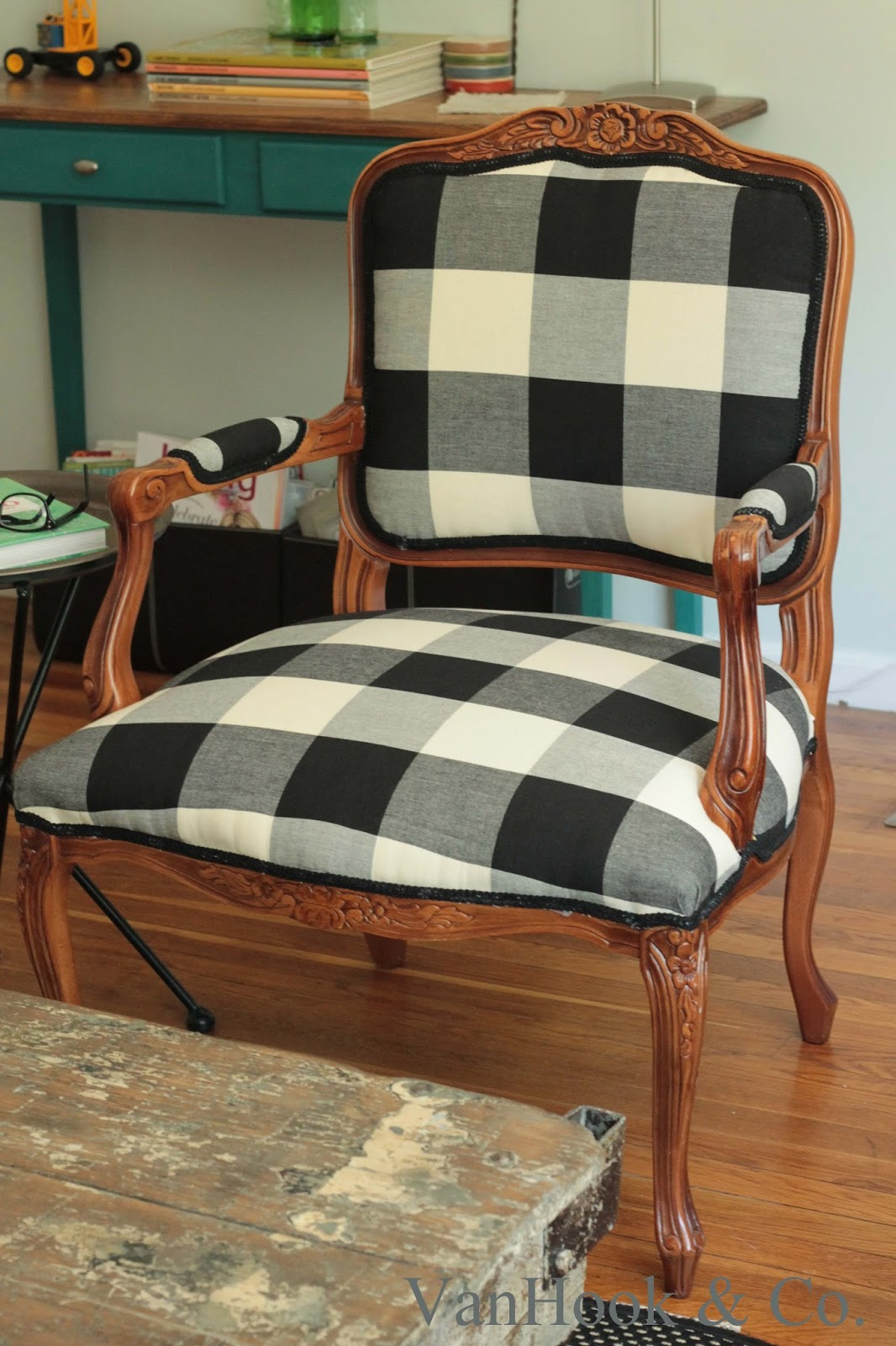vanhook co how to reupholster a chair finished. Black Bedroom Furniture Sets. Home Design Ideas