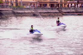 two man playing Jet Ski