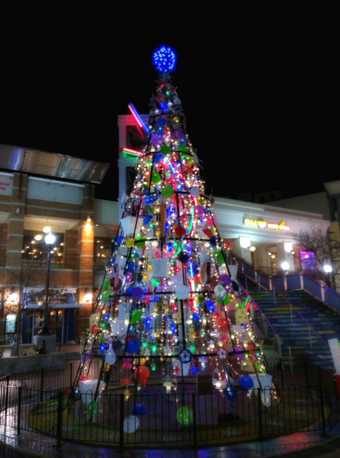 unique christmas tree lights up downtown silver spring photos - Unique Christmas Tree Lights