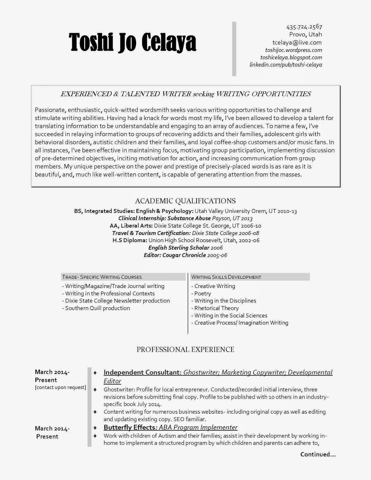 resume writing services ogden utah Resume writing services - ogden, ut resumestrong in ogden, ut is the premier local professional resume writing service our certified resume writers prepare.