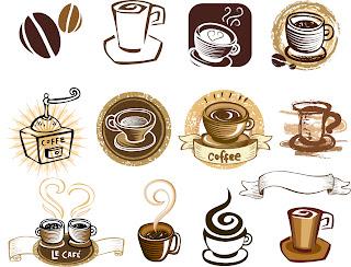 珈琲アイコン coffee draft line elements イラスト素材
