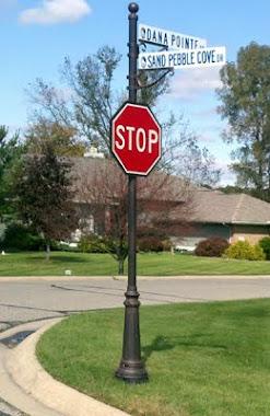 Decorative Traffic Signage Poles