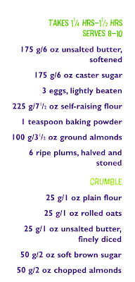 plum crumble cake ingredients