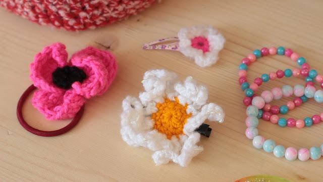 barrettes fleurs crochet