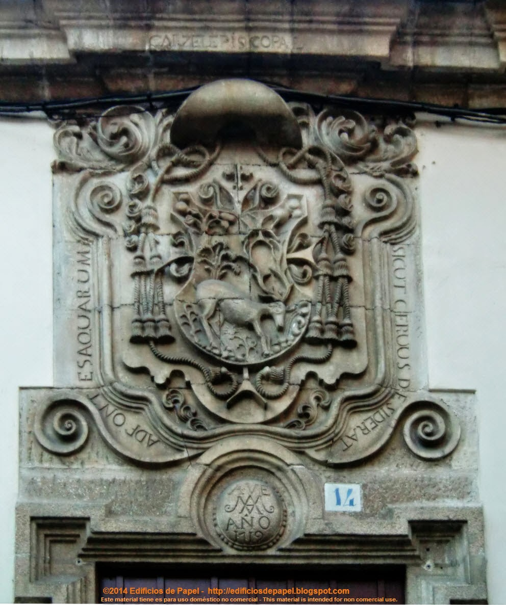 Heraldic Shield on the Episcopal Prison, Ourense (Spain)