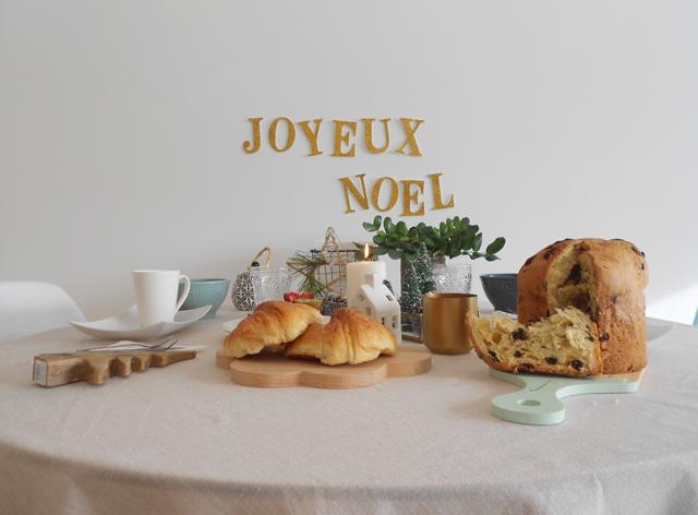 Mi mesa de desayuno en Navidad