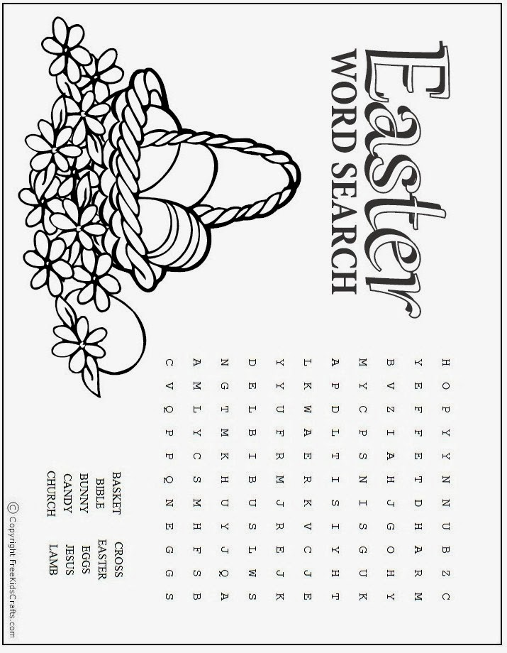 image regarding Easter Word Search Printable Worksheets known as 7 Easter Phrase Lookups Printable - Intermediate
