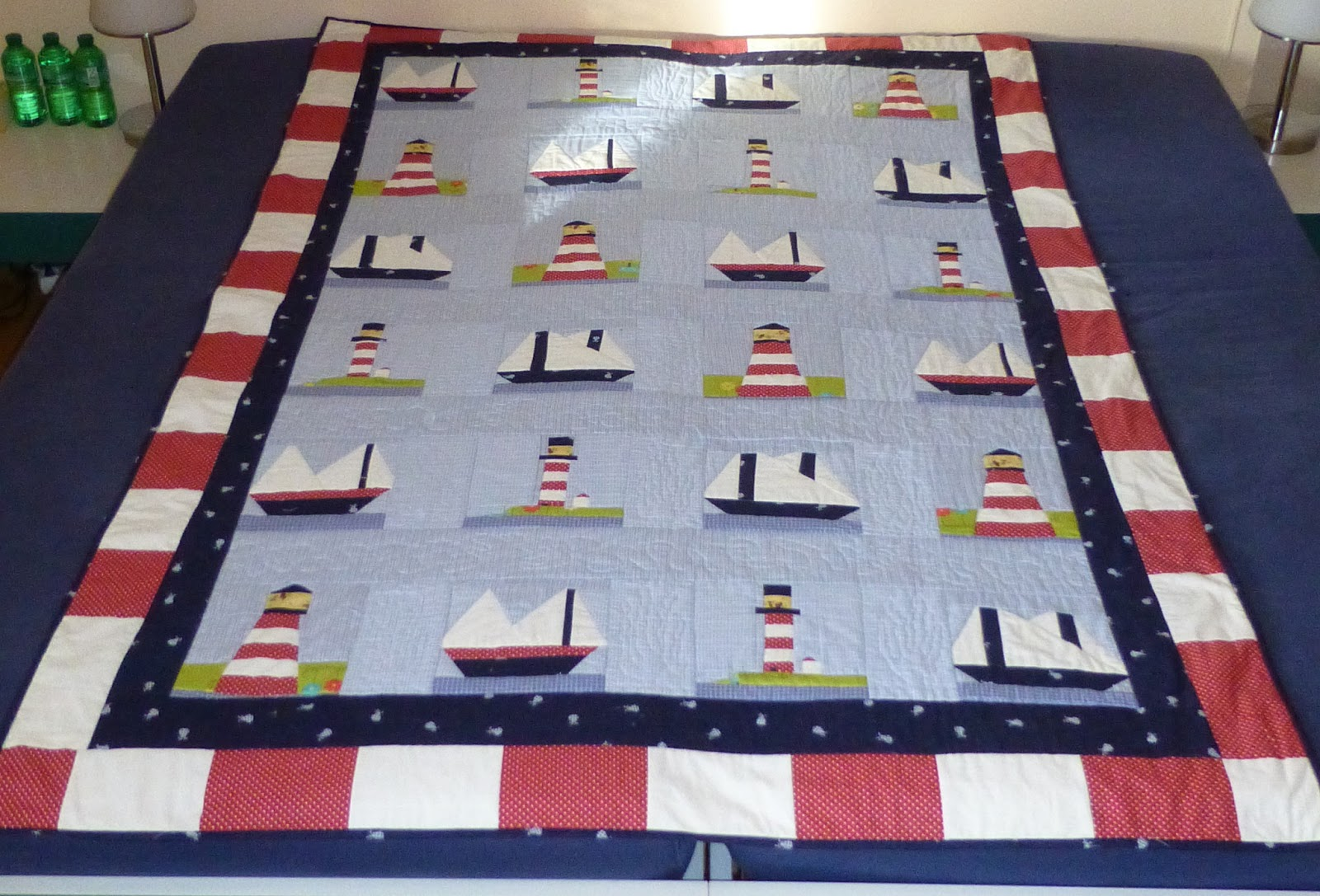 Free Lighthouse Quilt Block Patterns : Quilting Buttercup: The Lighthouse Quilt