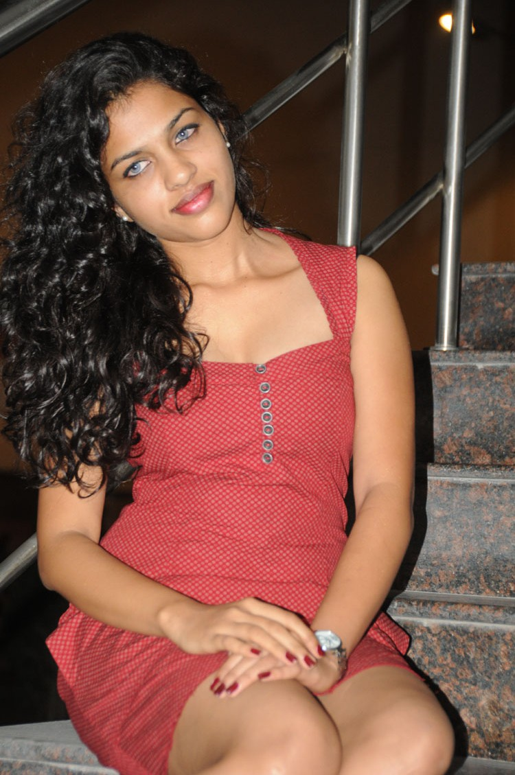 Naughty Herione chaitra at sahasra audio release