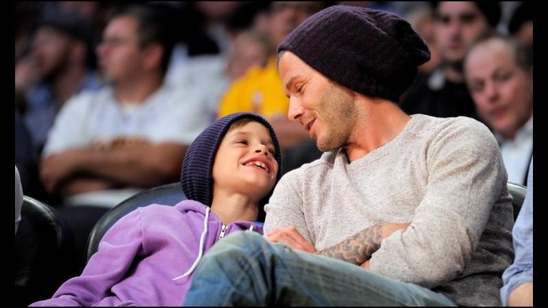 David Beckham dan putra keduanya, Romeo