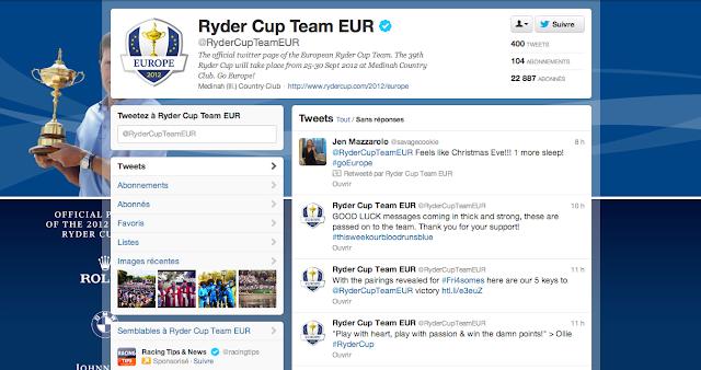 Compte Twitter de la TEAM EUROPE