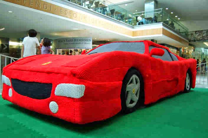 Knitted Ferrari - United Kingdom