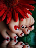 super cute ladybugs! #nailart