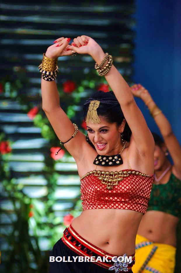 , Tapsee Latest Navel Pics - Hot Dancing Stills