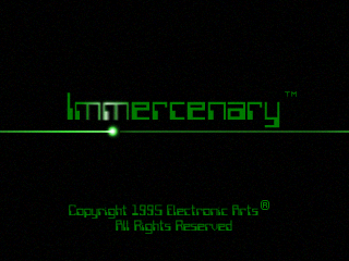Immercenary 3DO title screen