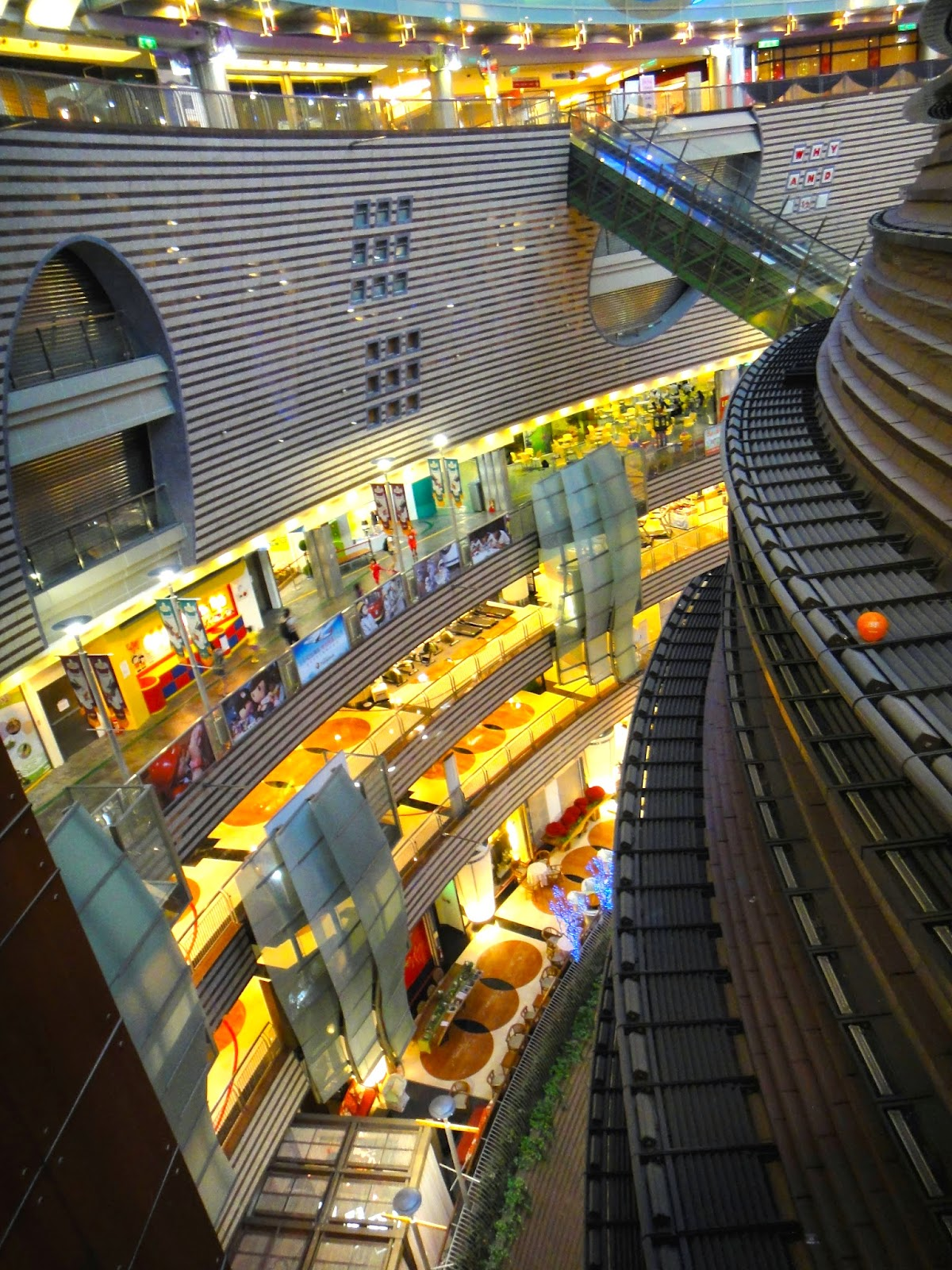 View from the top of Core Pacific City Living Mall Taipei