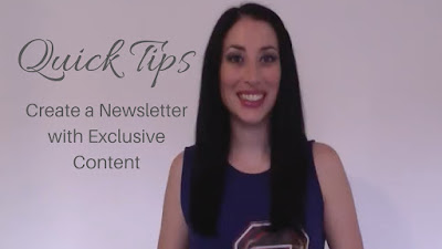 Quick Tips: Create a Newsletter with Exclusive Content #QuickTips #BookMarketing