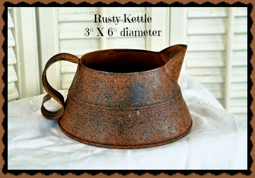 NEW! Rusty Kettle