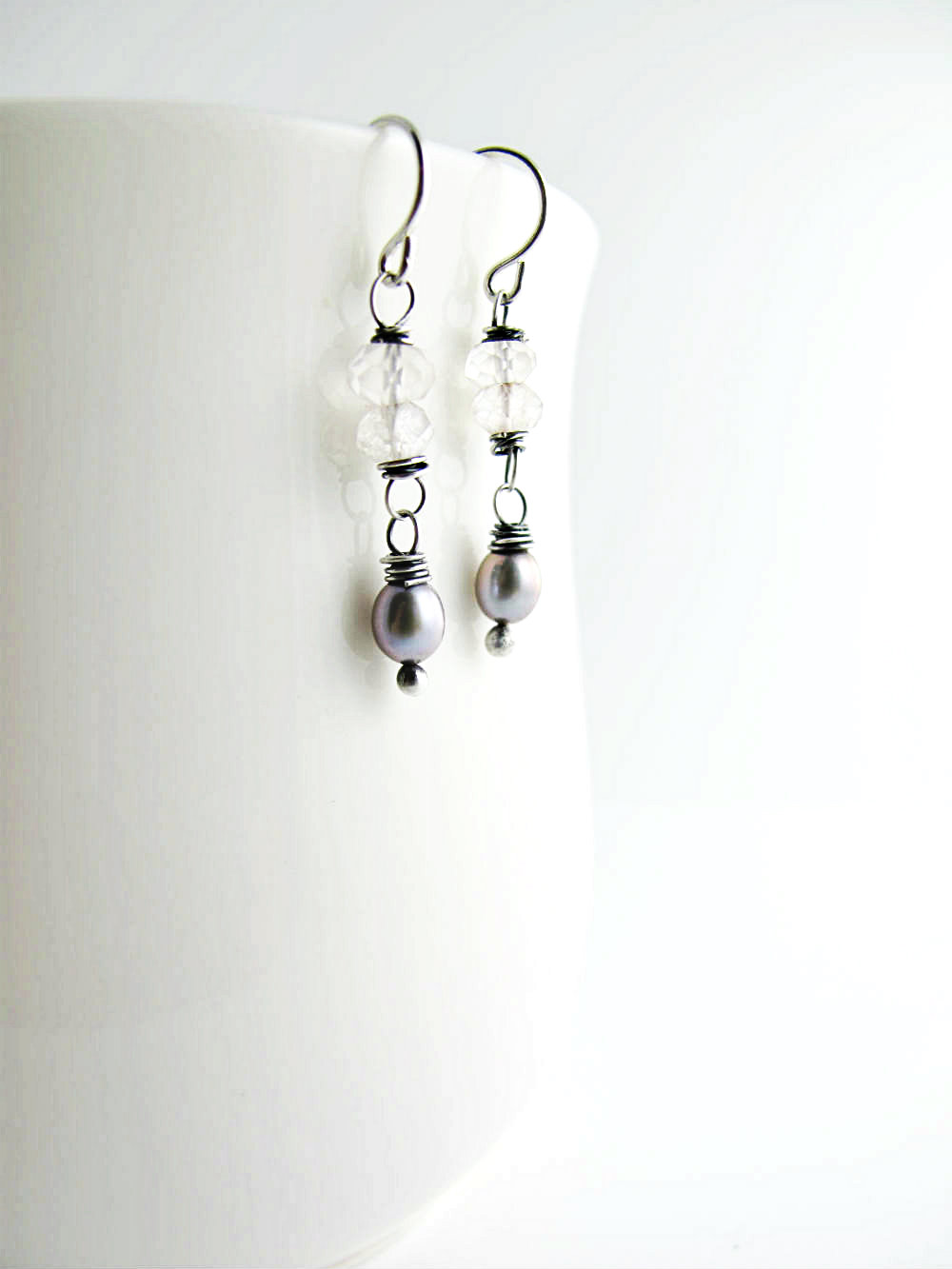 One of a Kind Earrings Desert Dawn by Beth Hemmila of Hint Jewelry