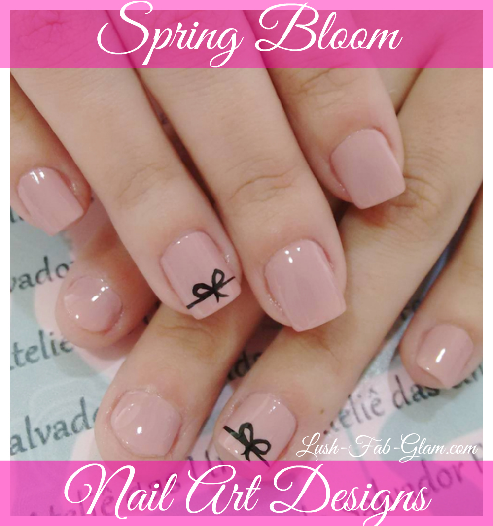 Pretty nail art designs inspired by the colors of spring.