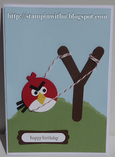 Angry Birds Punch Art Birthday Card