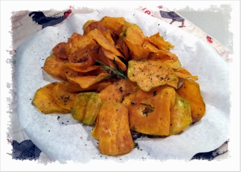 chips di zucca al rosmarino.