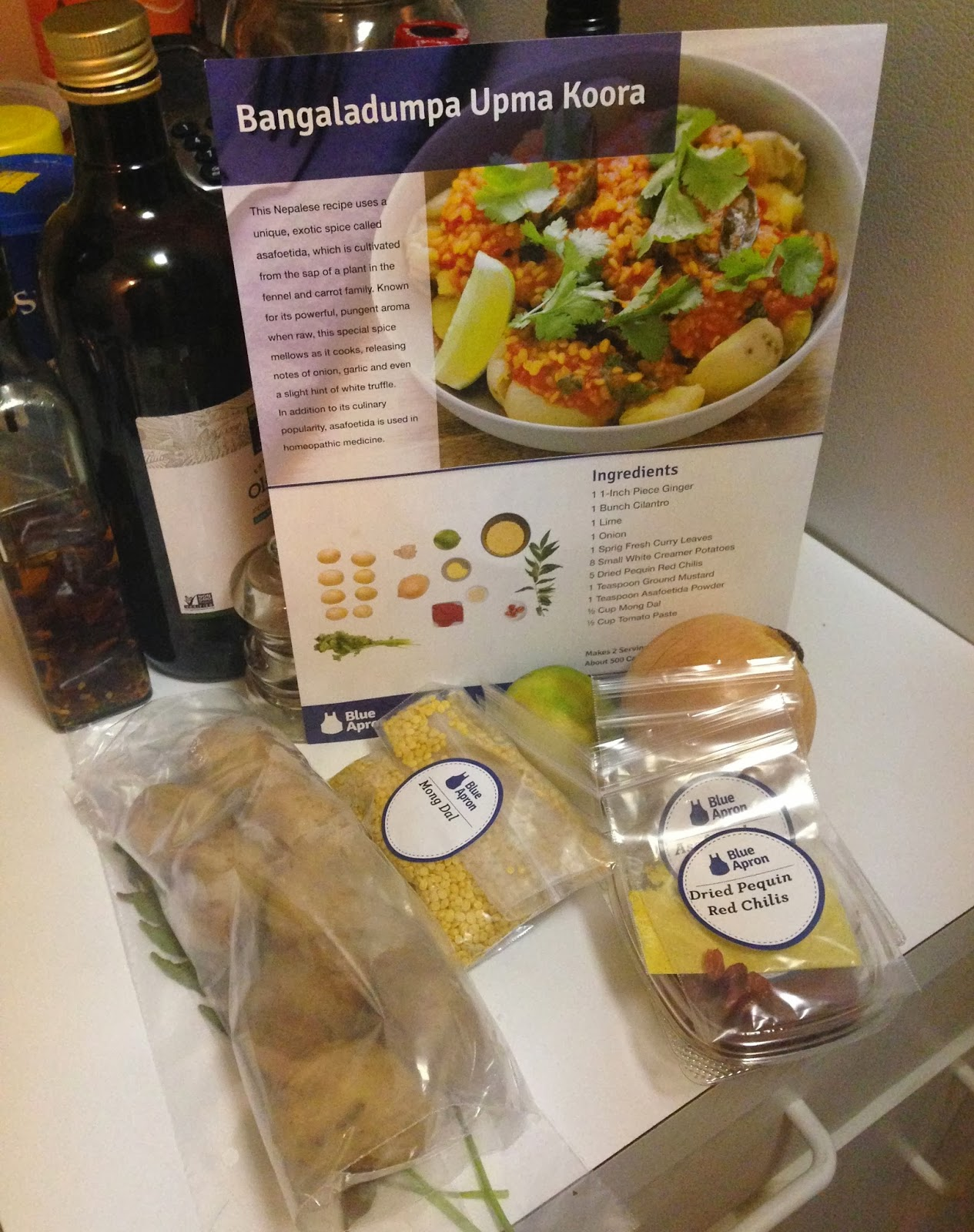 Blue apron fails - Ingredients And Recipe Card