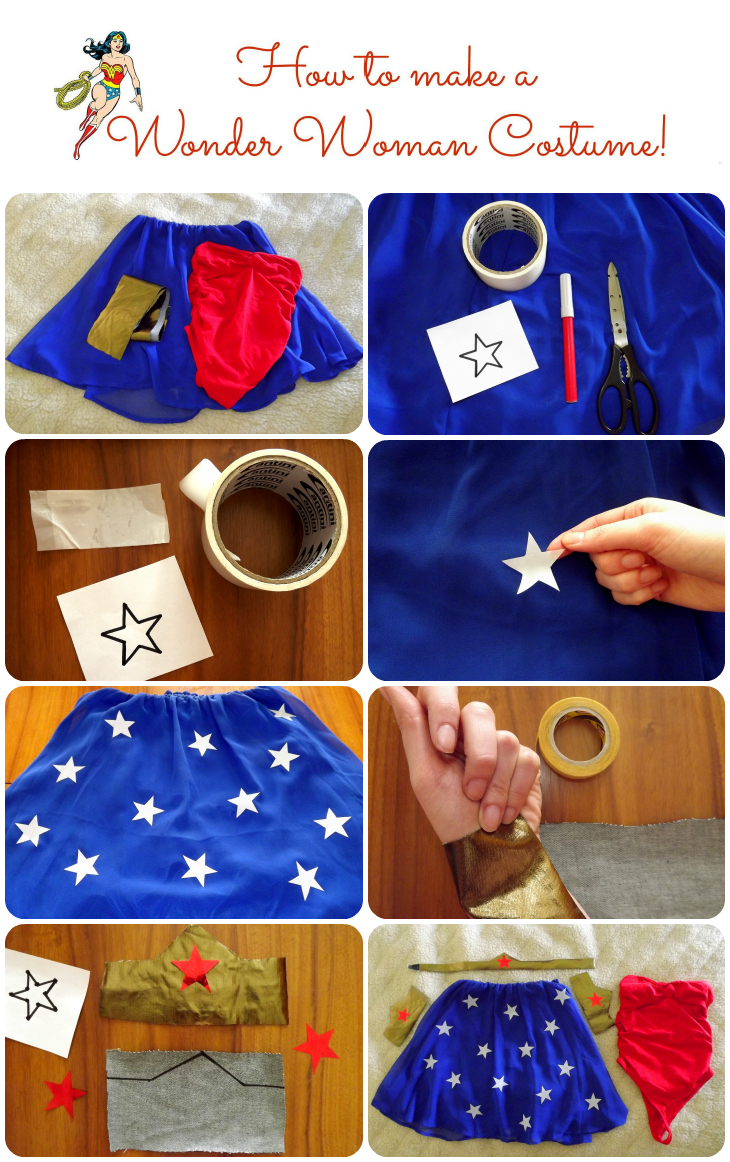 How to make a wonder woman costume dress make up the how to make a wonder woman costume dress make up solutioingenieria Image collections
