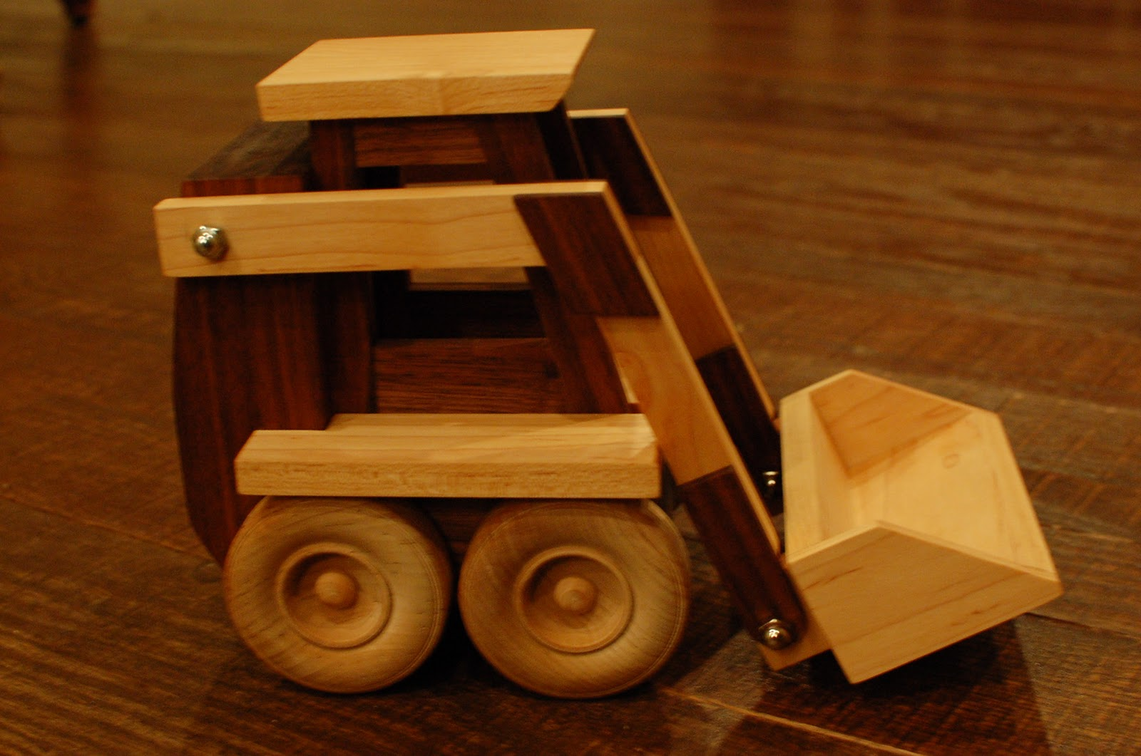Wooden Toy Trucks For 3 Year Old : Chad s workshop toy wooden skid loader