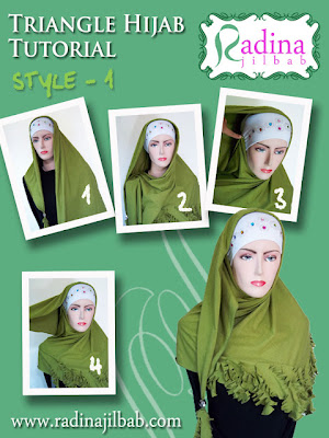 Cara Memakai Jilbab Segitiga by Radina 1