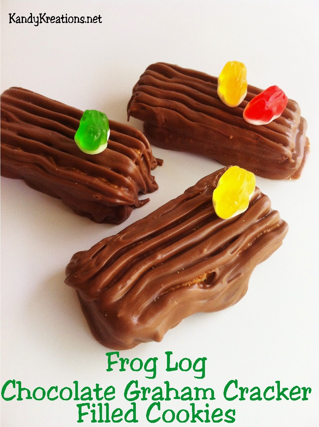 Enjoy a rich, yummy chocolate covered cookie that's fun to make and eat. This cookie is perfect for your video game party as the Frogger hops across the logs on the party dessert table.
