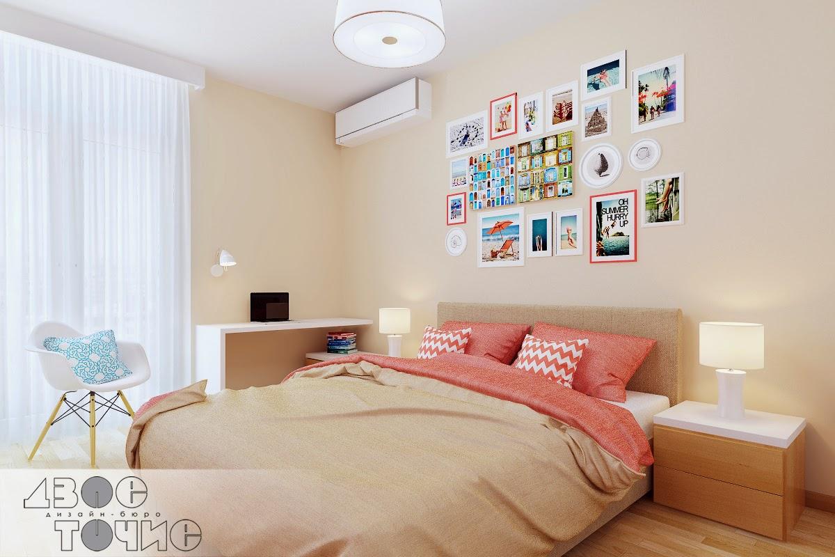 Коралловая спальня в ЖК Комфорт Таун