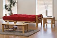 substituto do sofá cama, cama sofa futon estilo oriental