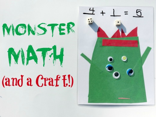 practice math with fun monsters halloween craft