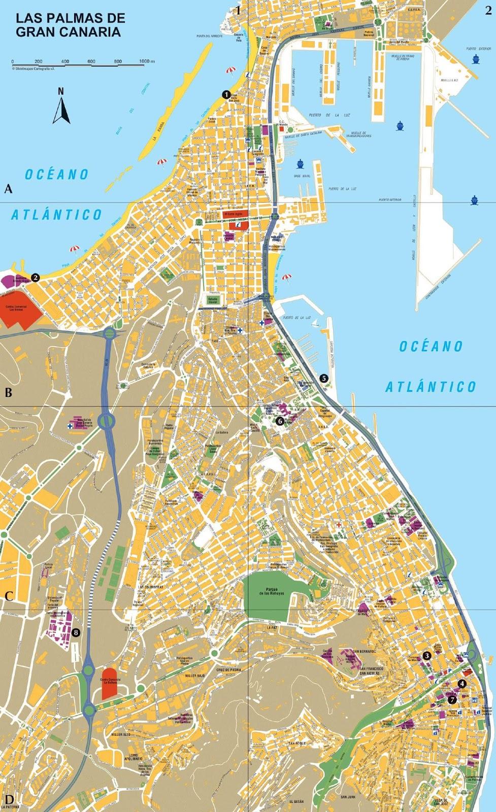 Mapas de las palmas de gran canaria espanha mapasblog for Cristalerias en las palmas de gran canaria