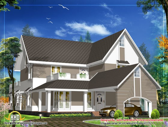 Sloping Roof House Design 3305 Sq Ft House Design Plans