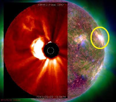 LLAMARADA SOLAR M5.0, 22 DE MAYO 2013