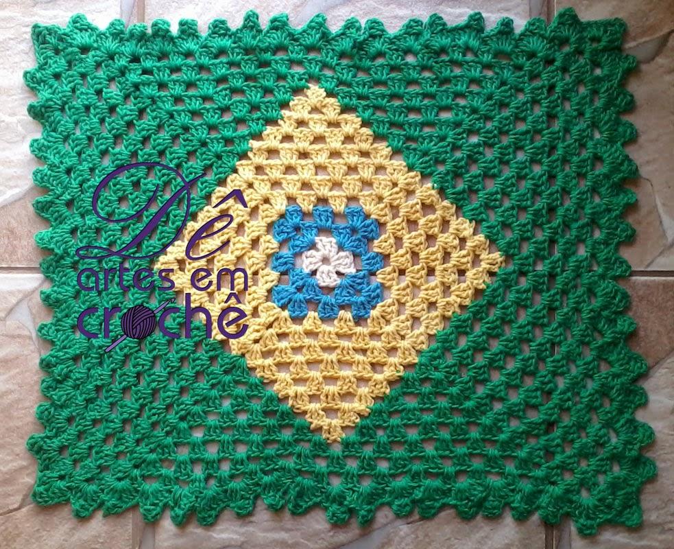 Arte Brasil Tapete De Croche : Postado por D? Artesanatos ?s 15:28
