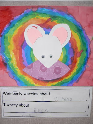 writing prompt and craft activity for Wemberly Worried