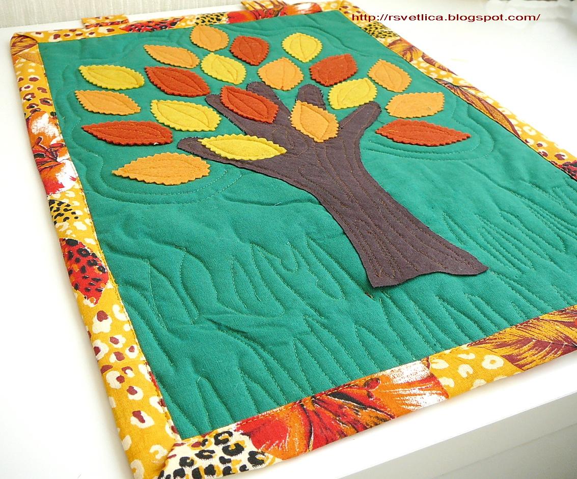 деревья из ткани схема