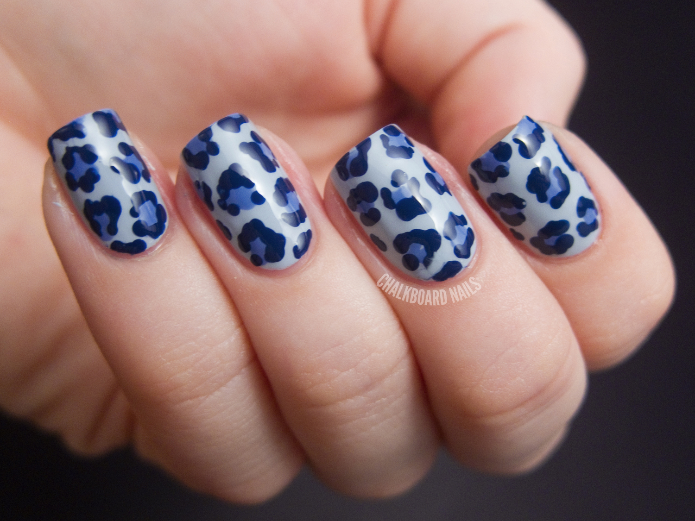 Denim Leopard (+ Video Tutorial)   Chalkboard Nails   Nail Art Blog