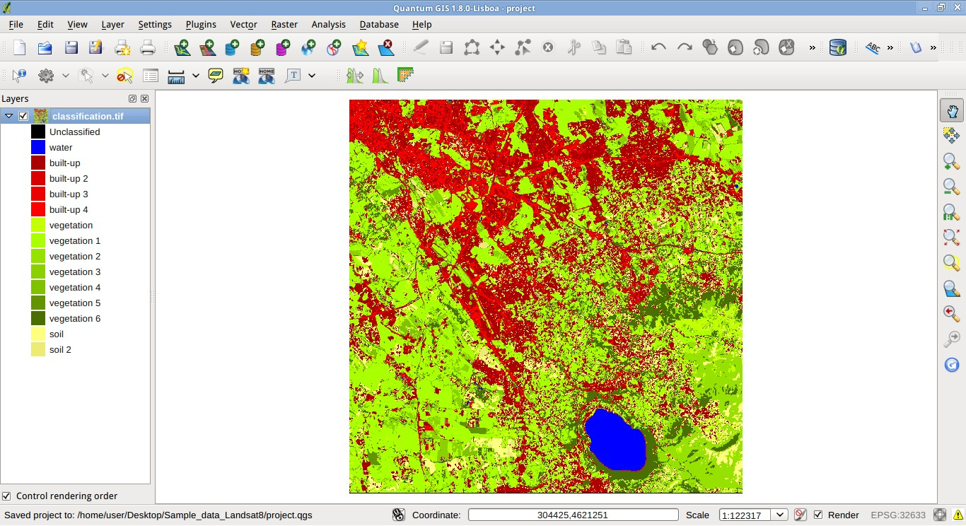 from gis to remote sensing  convert a land cover classification from raster to vector in qgis