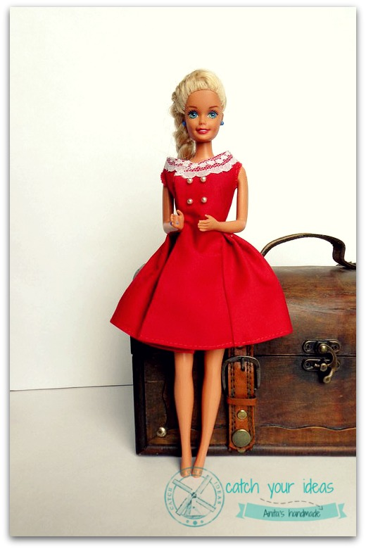 Barbie sukienka, sukienka dla barbie, ubranka dla barbie, sukienka barbie, barbie dress, barbie after five dress