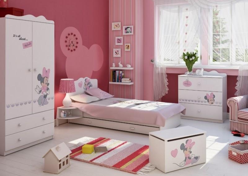 Dormitorios para ni as tema minnie dormitorios colores y for Cuartos para 3 ninas